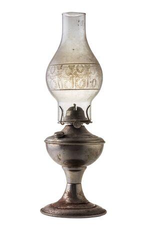 Kerosene lantern lamp  isolated on white background with clipping path.