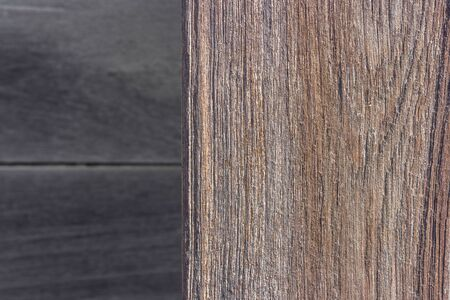 Old weathered wooden board or rustic table top with blur wood background.