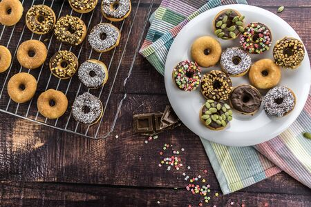 Mini donuts without gluten and with saccharin