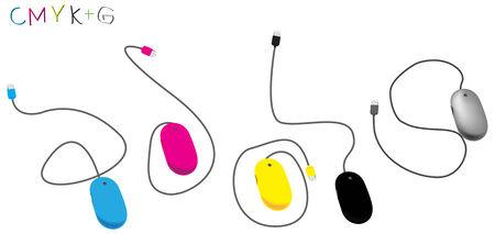 Computer mouse for graphic Design  On a white background  illustration-vecto EPS8  Hi-res jpeg Illustration
