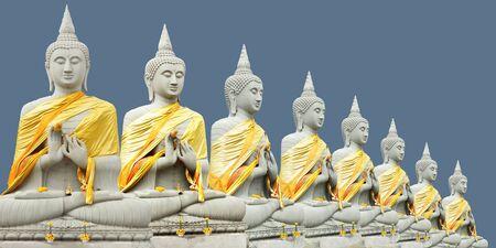 Buddha statue Thai art culture Belief and faith Stock Photo - 9185491