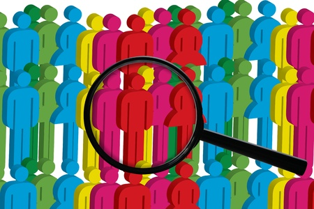 seekers: Job seekers, jobs for people, in order to better jobs. Stock Photo