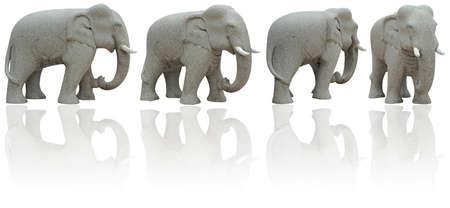 Elephant Stone four view on white background. Stock Photo - 9331725