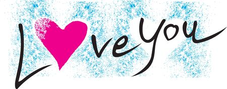 te: Escribir mensajes de amor sobre fondo azul.