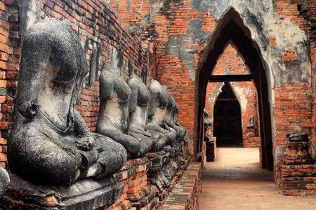 Old Buddha in Ayutthaya Province, Thailand photo