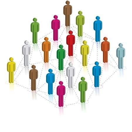 Social Network Concept, illustration illustration