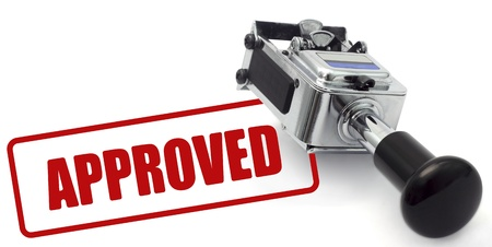 approved sign: Rubber stamp with Approved sign on white background. Computer generated image