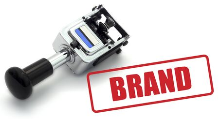 Brand rubber stamp. Part of a series of business concepts