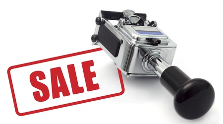 Rubber Stamp SALE concept on a white background. photo