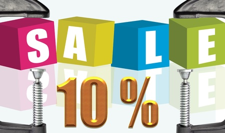 c clamp: C clamp and Sale 10 %  illustration text boxes