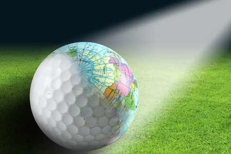 Golf balls and globes created in Photoshop