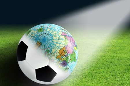 photoshop: Soccer balls and globes created in Photoshop