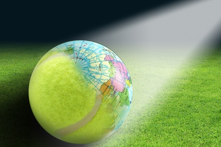 photoshop: Tennis balls and globes created in Photoshop