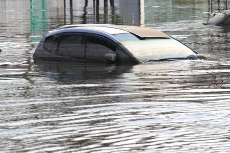 Inondé de voiture
