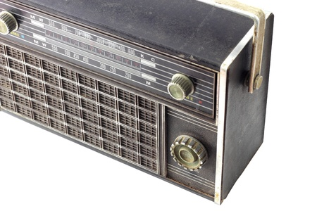 Old radio, on white background with Clipping Part Stock Photo - 11296282