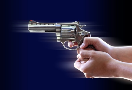 Gun in Hand with Clipping Part Stock Photo - 11868936