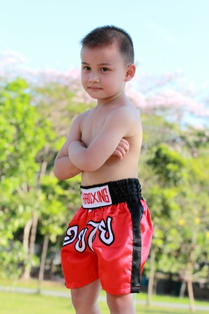 Thai Boxing kid