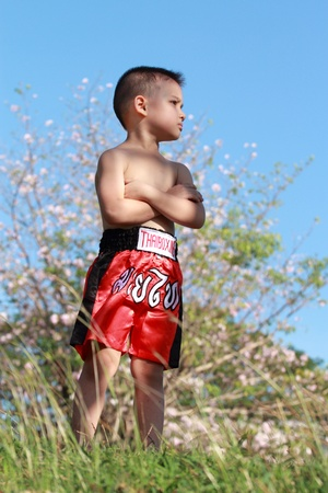 Thai Boxing kid photo