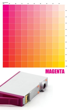 MAGENTA Ink color photo