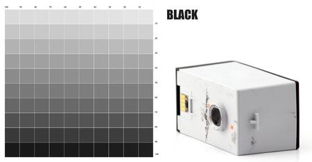 BLACK Ink color photo
