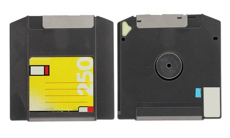 Zip Drive old store data on white background Stock Photo - 12553574