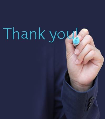 merci: �crit � la main Merci Banque d'images