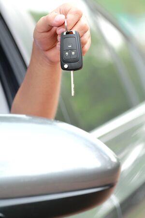 Car keys in hand, man photo