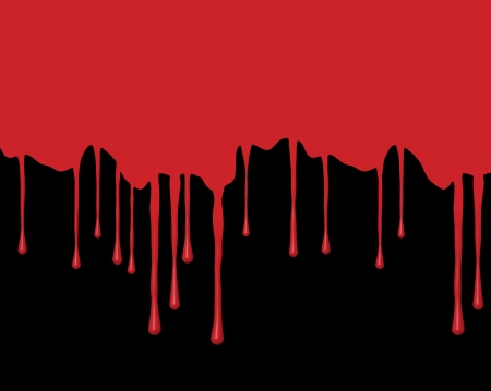 spattered: La sangre roja sobre un fondo negro