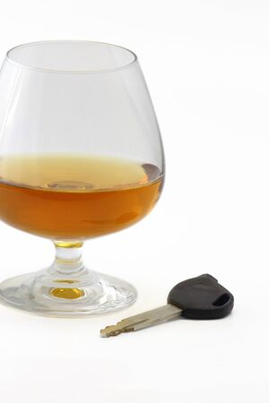 Brandy glasses and key photo