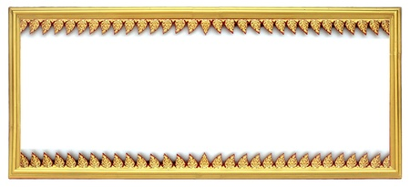 golden frame on white background photo