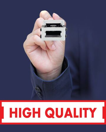 Concept is to seal HIGH QUALITY Stock Photo - 13219990