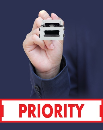 Concept is to seal PRIORITY Stock Photo - 13219983