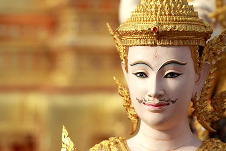 Thai art angel sculpture Stock Photo - 13494089