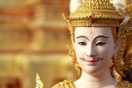 wat: Thai art angel sculpture Stock Photo
