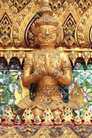 The Giant at the Emerald Buddha Temple, Bangkok, Thailand  photo
