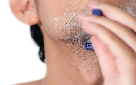 Close up of man is shaving Stock Photo - 14008667
