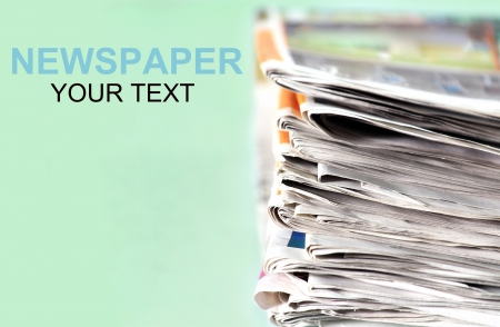 Old newspapers pile up