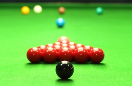 snooker table: Snooker balls Stock Photo