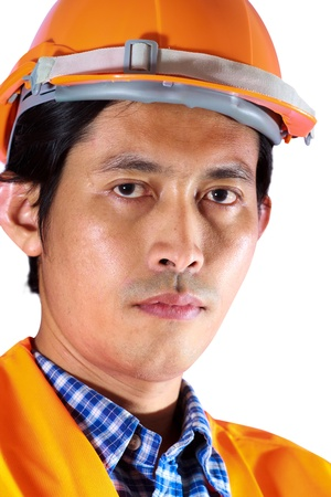 Face of construction worker photo