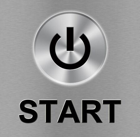 Metal start button Stock Photo - 15504157