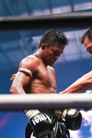 BANGKOK, THAILAND- OCTOBER 23 : Buakaw Por.Pramuk (THAI) in THAI FIGHT 2012. on October 23, 2012 at Chanchai Acadium, Bangkok, Thailand