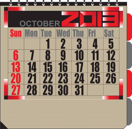Vector calendar APRIL 2013 Stock Vector - 16255341