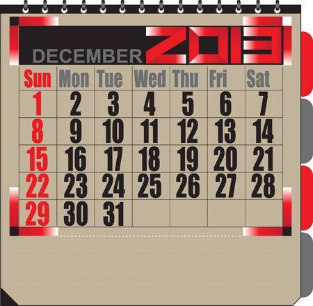 Vector calendar APRIL 2013 Stock Vector - 16255343