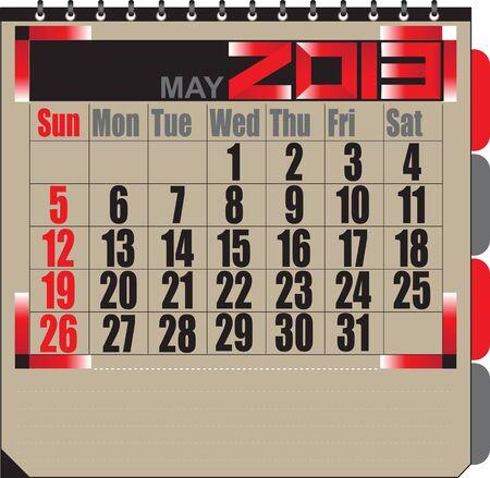 Vector calendar APRIL 2013 Stock Vector - 16255336