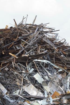 Pile of Steel scrap Stock Photo - 16727873