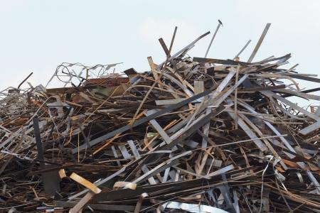 Pile of Steel scrap Stock Photo - 16727874