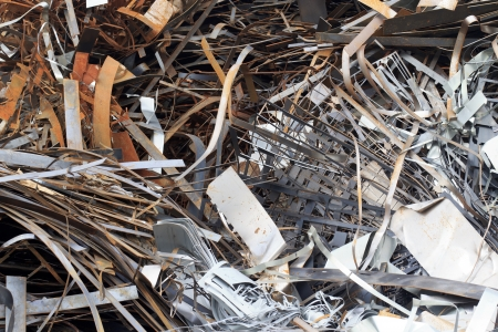 Pile of Steel scrap photo