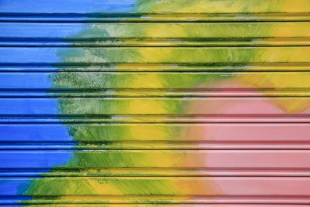 Colorful shutter steel door texture  Stock Photo - 17083143