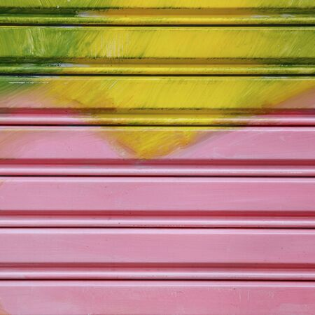 Colorful shutter steel door texture  Stock Photo - 17083140