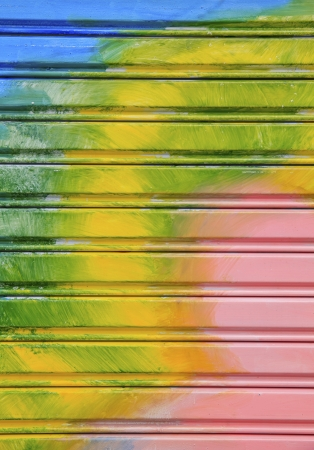 Colorful shutter steel door texture  Stock Photo - 17083141